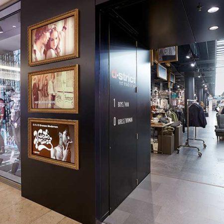 Digitale Signage Lösung für den Modehandel im Einkaufscenter dodenhof