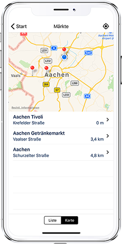 App-Modul Märkte HIT Sütterlin