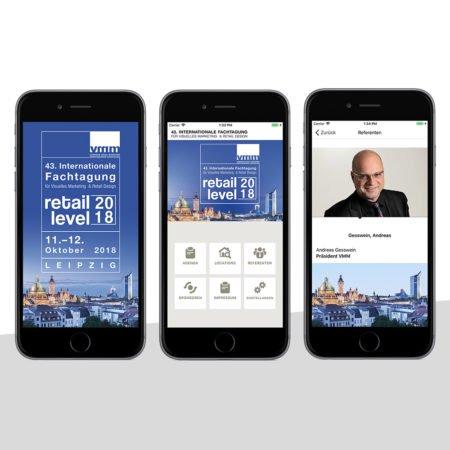 Ansichten der VMM App mit dem PRESTIGEenterprise AppBaukasten