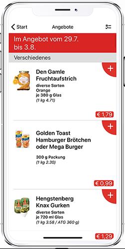 App-Modul Angebote akzenta