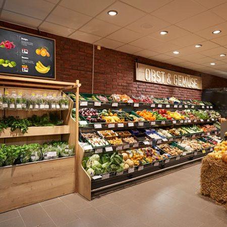 Digital Signage an der Obst- & Gemüsetheke - EDEKA Nord Blankenese