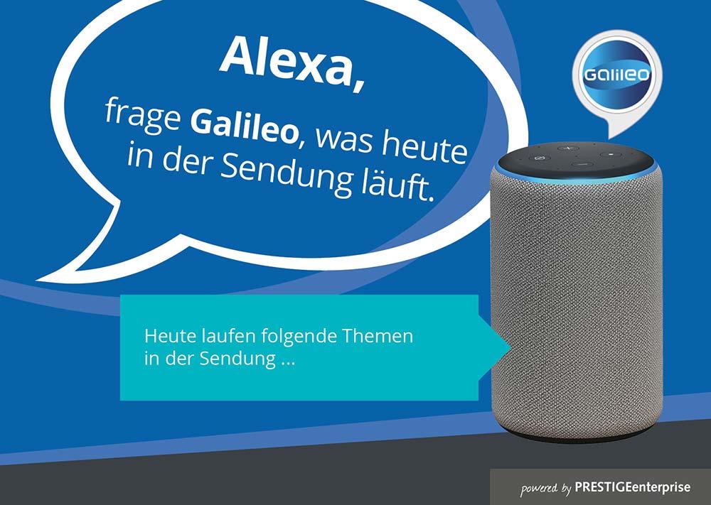Alexa Skill von PRESTIGEenterprise für Galileo