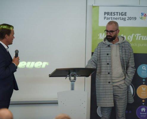 PRESTIGE Partnertag 2019 - Referent Martin Heinzmanz und Moderator Marc Schaffnit