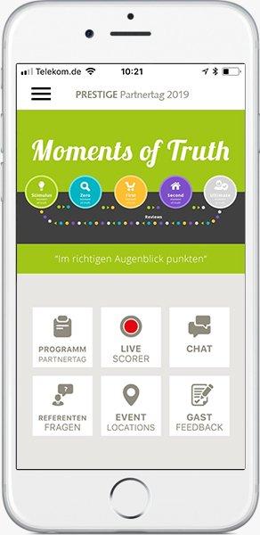 Event-Apps mit dem AppBaukasten von PRESTIGEenteprise
