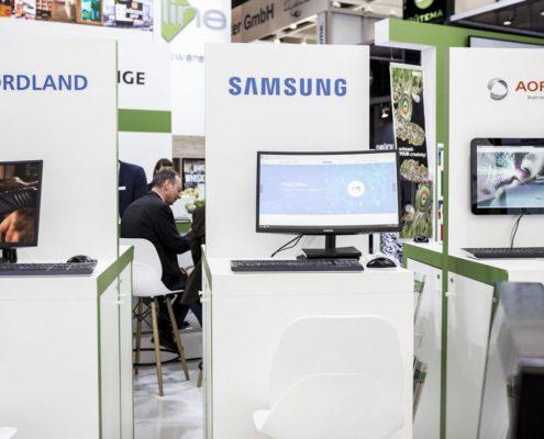 EuroCIS 2019 - PRESTIGE Solution Campus - Arbeitsplätze Nordland, Samsung und AOPEN