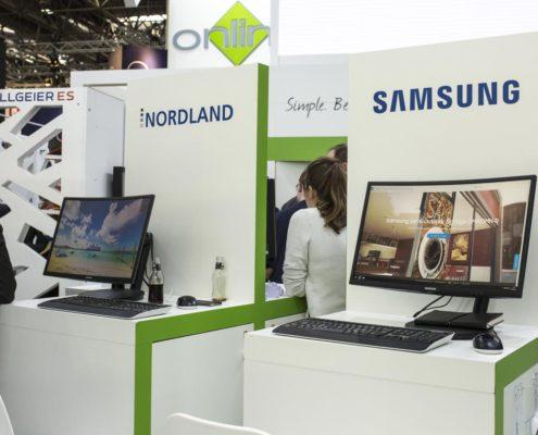 EuroCIS 2019 - PRESTIGE Solution Campus - Arbeitsplätze Partner Nordland und Samsung