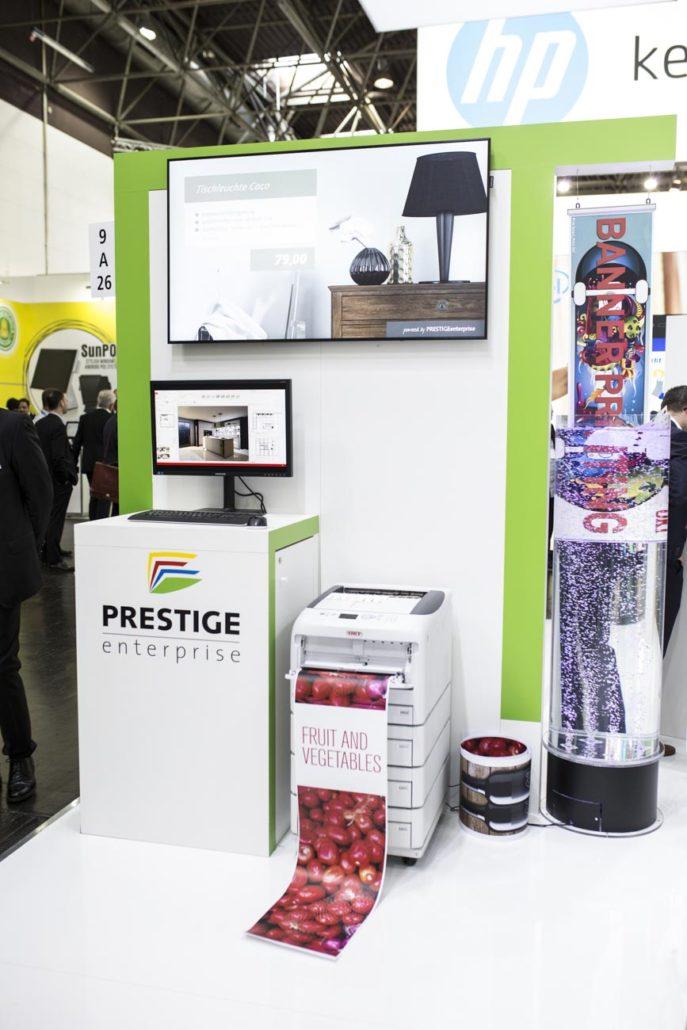 EuroCIS 2019 - PRESTIGE Solution Campus - Furniture-Bereich mit Küchenplaner und Drucklösungen