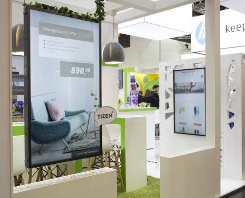 EuroCIS 2019 - Standansicht mit Kommunikationsecke