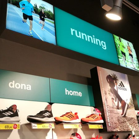 Instore TV bei Forum Sport in Spanien