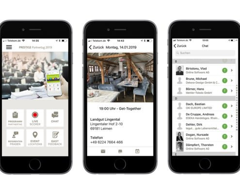 Apps für iOS und Android mit PRESTIGEenterprise