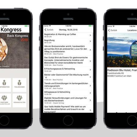 App Back Kongress - mit dem PRESTIGE AppBaukasten