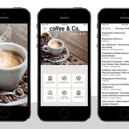 App Coffee & Co - mit dem PRESTIGE AppBaukasten