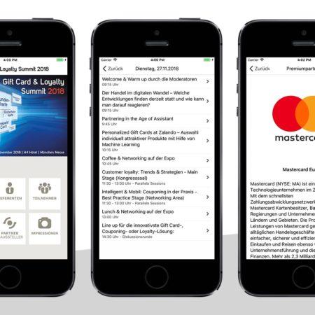 Gift Card Congress App - mit dem PRESTIGE AppBaukasten