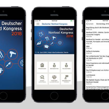 Nonfood Kongress App - mit dem PRESTIGE AppBaukasten