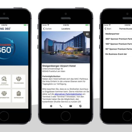 Packaging 360 Grad App - dem PRESTIGE AppBaukasten