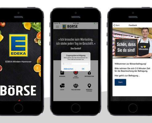 EDEKA MIOS Werbeagentur Kongress App