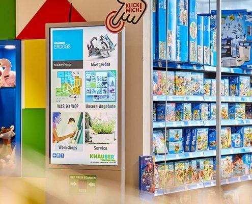 Knauber Freizeitmärkte Bildschirmwerbung