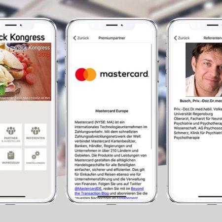 Snack Kongress App - dem PRESTIGE AppBaukasten