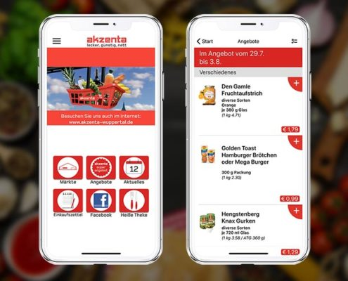 akzenta App Screens
