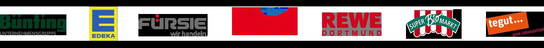 Logos von Referenzkunden für die Branche Lebensmitteleinzelhandel
