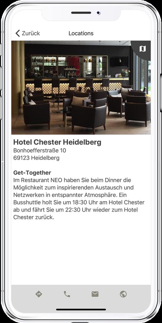 App PRESTIGE Partnertag 2020 - Ansicht der Locations