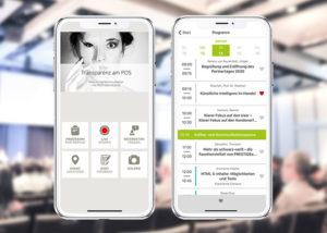 App PRESTIGE Partnertag 2020 - Ansicht der App