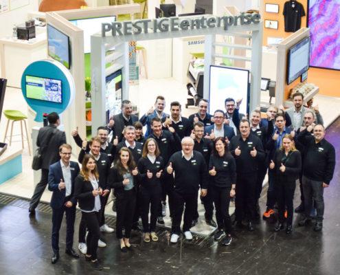 Das Standteam auf der EuroShop 2020