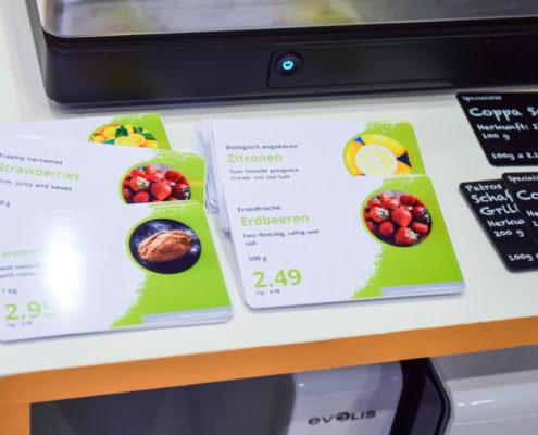 Thekenkarten für den Lebensmittelbereich - Multiformatdruck