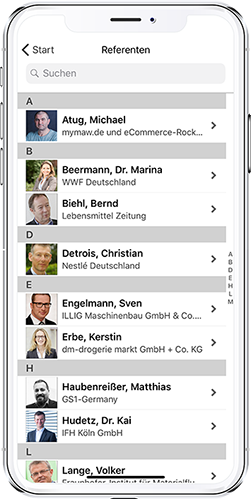 App Conference-Group Modul Referenten