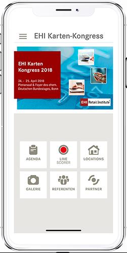 App EHI-Kartenkongress App-Menü