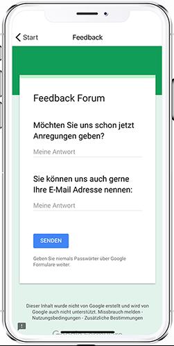 App Hagebau Modul Feedback