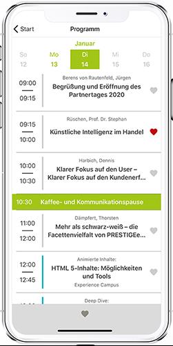 App PRESTIGE Partnertag Agenda