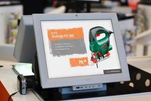 Kassen-Lösungen Digital Signage für Baumärkte