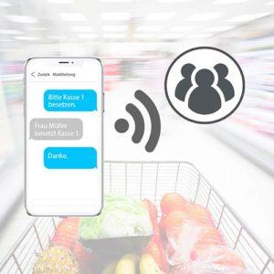 Store Messenger im Lebensmitteleinzelhandel