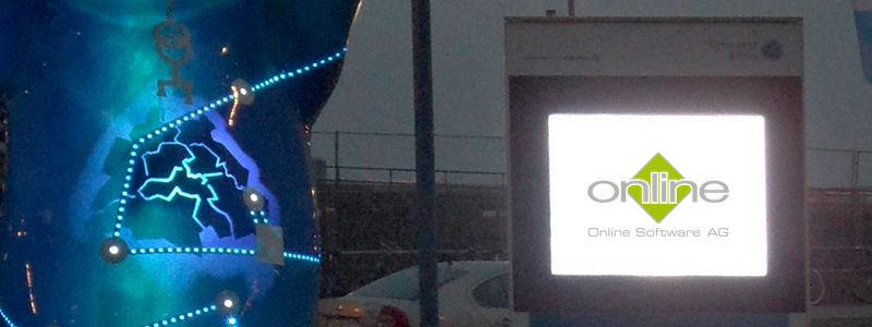 Digital Signage Stele OSAG