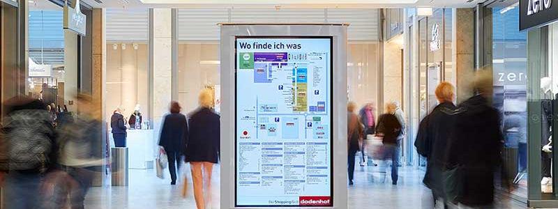 Vorteile zur Orientierung mit Digital Signage: Info-Stele mit Gebäudeplan